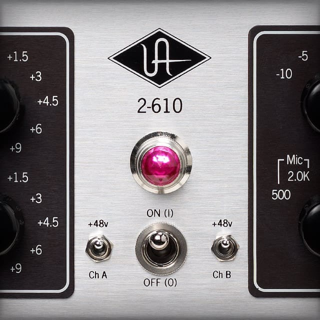 2-610 | Dual Channel Tube Preamplifier | Universal Audio
