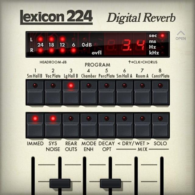 Lexicon 224 Digital Reverb | UAD Audio Plugins | Universal Audio