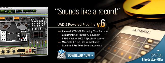 Sounds like a record.  UAD-2 Powered Plug-Ins software v.6.0