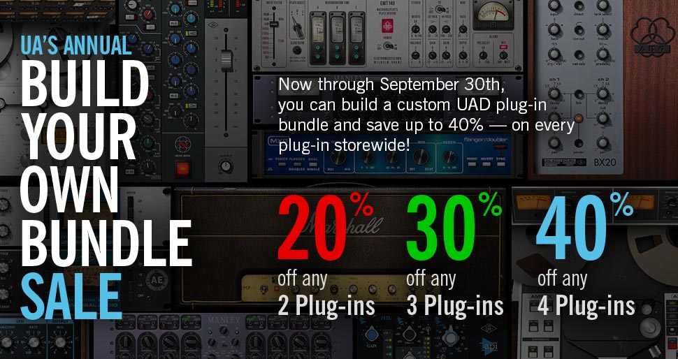 UA's Annual Build Your Own Bundle Plug-In Sale