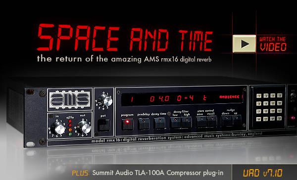 Universal Audio Releases AMS RMX Digital Reverb Plug-In