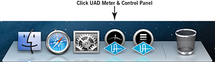 Launching the UAD Meter & Control Panel